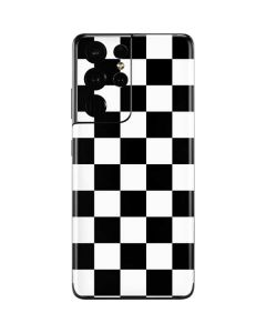 Black and White Checkered Galaxy S21 Ultra 5G Skin