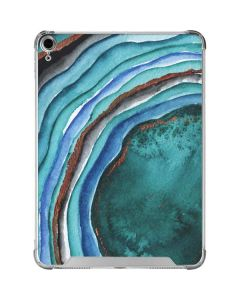 Turquoise Watercolor Geode iPad Air 10.9in (2020) Clear Case