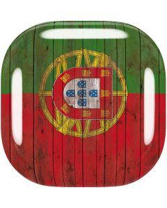 Portuguese Flag Dark Wood Galaxy Buds Live Skin
