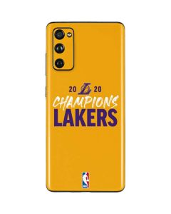 2020 Champions Lakers Galaxy S20 Fan Edition Skin