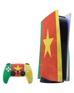 Cameroon Flag Distressed PS5 Bundle Skin