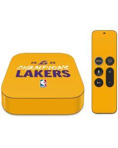 2020 Champions Lakers Apple TV Skin