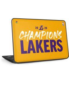 2020 Champions Lakers HP Chromebook Skin