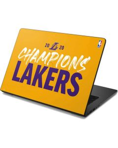 2020 Champions Lakers Dell Chromebook Skin