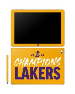 2020 Champions Lakers Galaxy Book 12in Skin