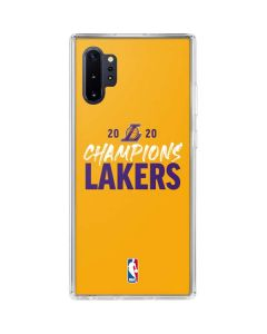 2020 Champions Lakers Galaxy Note 10 Plus Clear Case