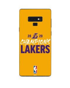 2020 Champions Lakers Galaxy Note 9 Skin