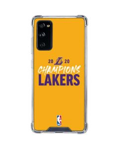 2020 Champions Lakers Galaxy S20 FE Clear Case