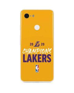2020 Champions Lakers Google Pixel 3 Skin