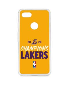 2020 Champions Lakers Google Pixel 3 XL Clear Case