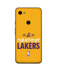 2020 Champions Lakers Google Pixel 3a XL Skin