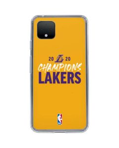 2020 Champions Lakers Google Pixel 4 XL Clear Case