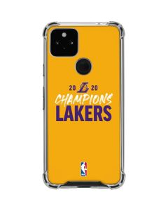 2020 Champions Lakers Google Pixel 4a 5G Clear Case
