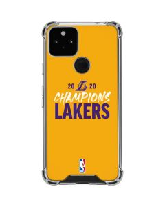 2020 Champions Lakers Google Pixel 5 Clear Case