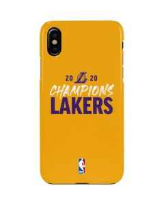 2020 Champions Lakers iPhone XS Max Lite Case