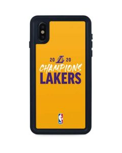2020 Champions Lakers iPhone XS Max Waterproof Case