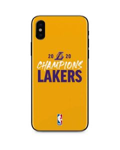2020 Champions Lakers iPhone XS Skin