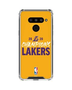 2020 Champions Lakers LG V50 ThinQ Clear Case
