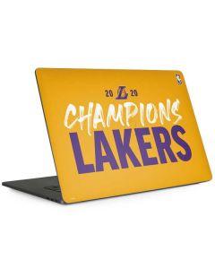 2020 Champions Lakers Apple MacBook Pro 15-inch Skin