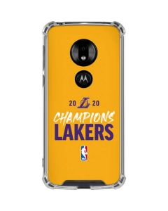2020 Champions Lakers Moto G7 Play Clear Case