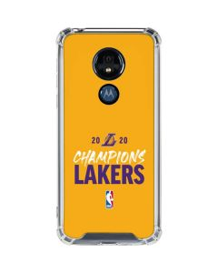 2020 Champions Lakers Moto G7 Power Clear Case