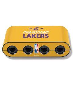 2020 Champions Lakers Nintendo GameCube Controller Adapter Skin