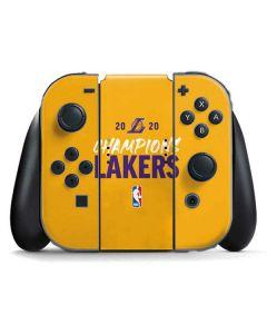 2020 Champions Lakers Nintendo Switch Joy Con Controller Skin