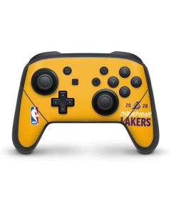 2020 Champions Lakers Nintendo Switch Pro Controller Skin