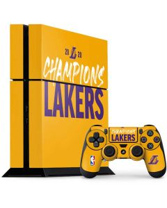 2020 Champions Lakers PS4 Console and Controller Bundle Skin