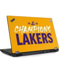 2020 Champions Lakers Lenovo ThinkPad Skin