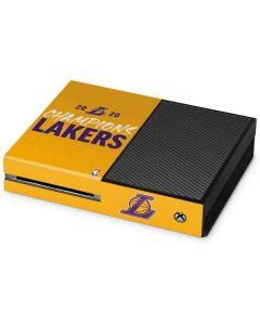 2020 Champions Lakers Xbox One Console Skin