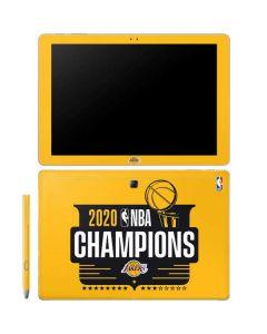 2020 NBA Champions Lakers Galaxy Book 12in Skin