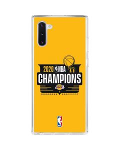 2020 NBA Champions Lakers Galaxy Note 10 Clear Case