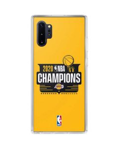 2020 NBA Champions Lakers Galaxy Note 10 Plus Clear Case
