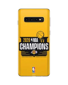 2020 NBA Champions Lakers Galaxy S10 Skin