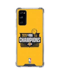 2020 NBA Champions Lakers Galaxy S20 FE Clear Case