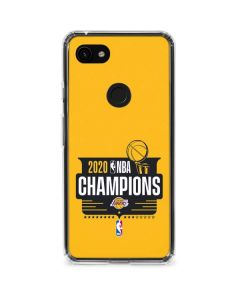 2020 NBA Champions Lakers Google Pixel 3a Clear Case