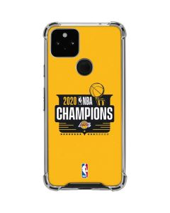 2020 NBA Champions Lakers Google Pixel 4a 5G Clear Case