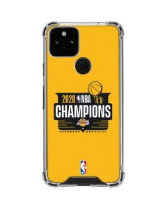 2020 NBA Champions Lakers Google Pixel 5 Clear Case