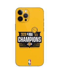 2020 NBA Champions Lakers iPhone 12 Pro Skin