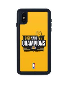 2020 NBA Champions Lakers iPhone XS Max Waterproof Case
