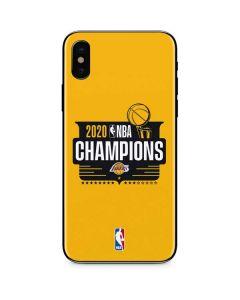 2020 NBA Champions Lakers iPhone XS Skin