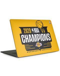 2020 NBA Champions Lakers Apple MacBook Pro 15-inch Skin
