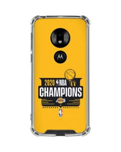 2020 NBA Champions Lakers Moto G7 Play Clear Case