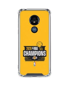 2020 NBA Champions Lakers Moto G7 Power Clear Case