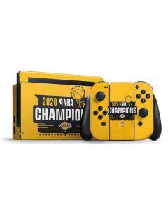 2020 NBA Champions Lakers Nintendo Switch Bundle Skin