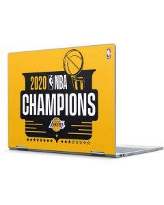 2020 NBA Champions Lakers Pixelbook Skin