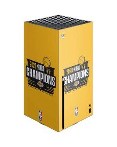 2020 NBA Champions Lakers Xbox Series X Console Skin