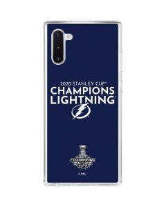 2020 Stanley Cup Champions Lightning Galaxy Note 10 Clear Case