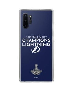 2020 Stanley Cup Champions Lightning Galaxy Note 10 Plus Clear Case